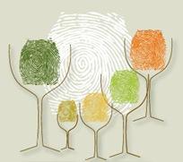 指紋葡萄酒