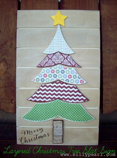 Layered-Christmas-Tree-Slat-Sign by Summer Scraps