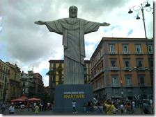 Cristo Redentore a piazza Dante