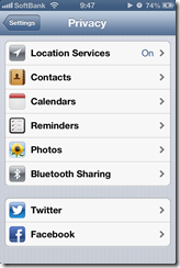 iOS 6.1 Privacy Options