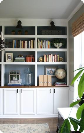 DIY built in bookcases DIY built in bookcases
