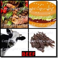 BEEF- 4 Pics 1 Word Answers 3 Letters