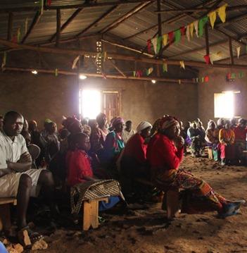 Rural Village Meeting Near Gisenyi, Rwanda