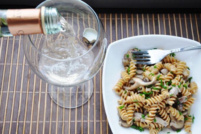 creamy mushroom pasta 079