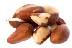 Brazil Nuts Isolated