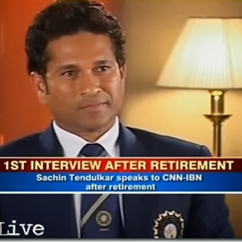VIDEO : Sachin Tendulkar's EXCLUSIVE Interview to CNN IBN after his Retirement