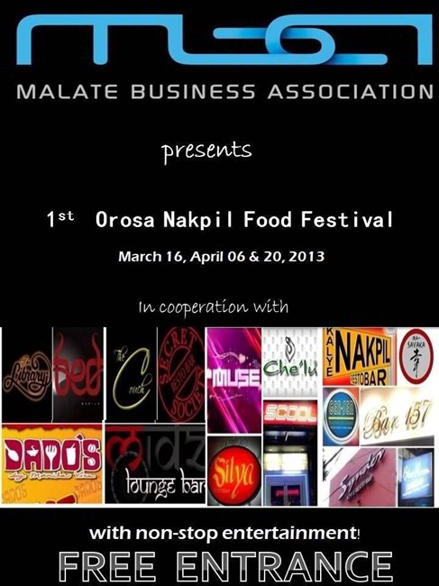 Orosa Nakpil Food Festival