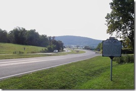 Jackson's Bivouac marker on U.S. Route 50 looking east