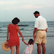 2001 - This is the original photo taken of a family at the beach.  The next photo is the final image I ended up with after alterations.