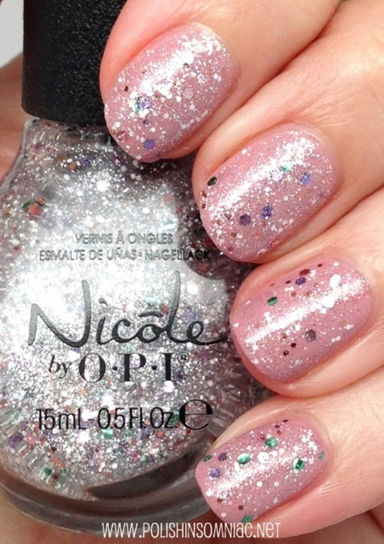 Nicole by OPI Shaved Nice over Cult Nails Alluring
