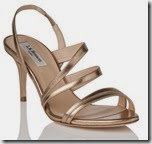 LK Bennett Metallic Leather Platform sandal