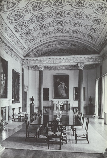 This dining room was added to the Carton estate by the third Duke of Leinster and inspires some deep pondering.