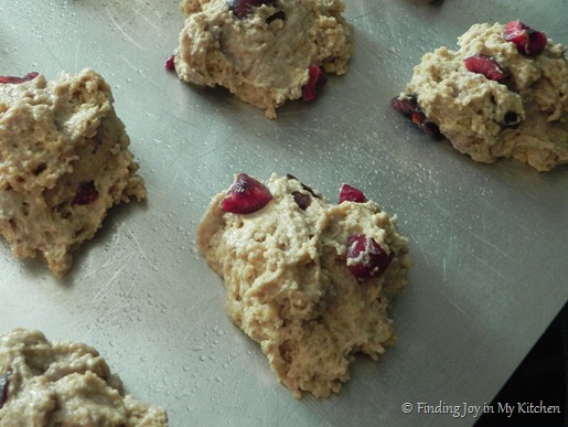 Cherry Scones - Ready for the oven