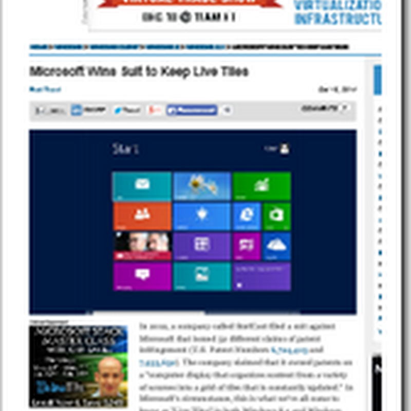 Live Tiles live another day... 52 Patent clams ruled invalid in Microsoft's favor