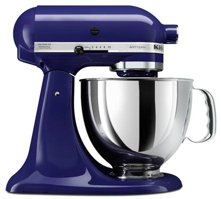 blue kitchenaid mixer