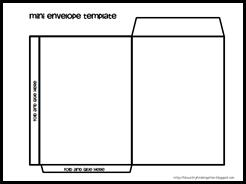 Mini Envelope Template 1