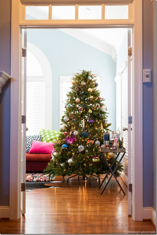 Christmas tree interior design living room