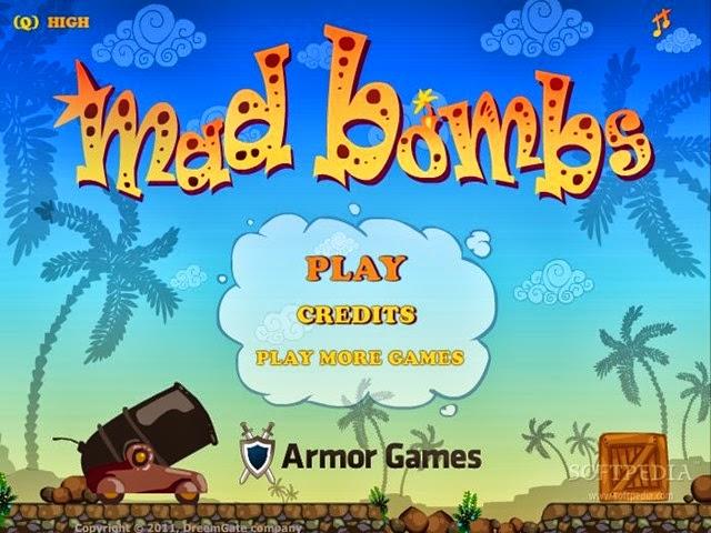 لعبة القنابل المجنونة Mad Bombs 1