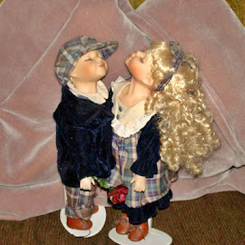 The Kissing Dolls 12 by Yvonne Collins - Artistic Objects Toys