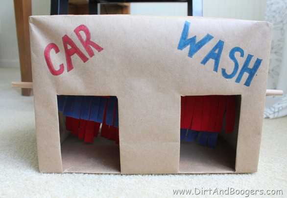 Cardboard, car wash, diy