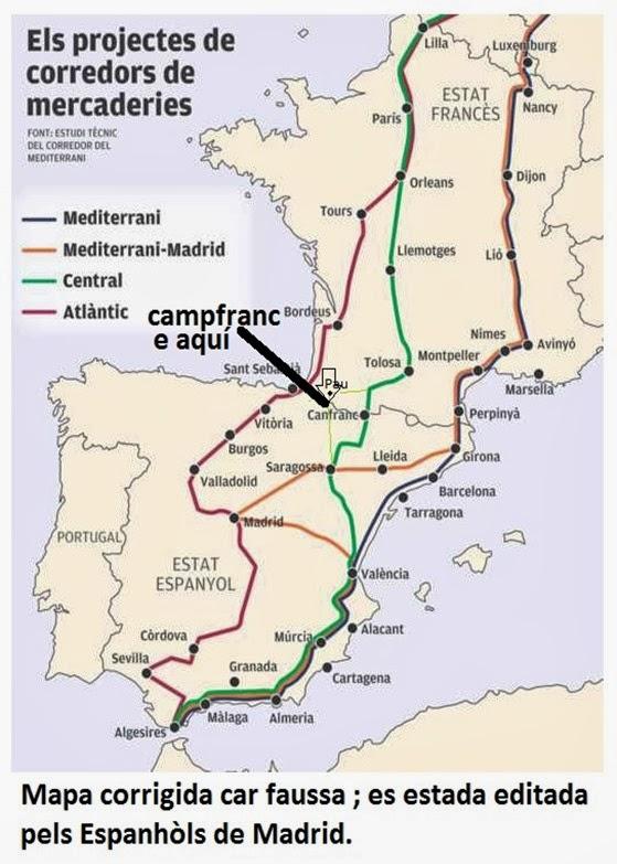 Mapa espanhòla corrigida