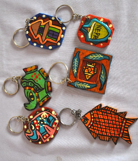 Key Ring Hand Painted