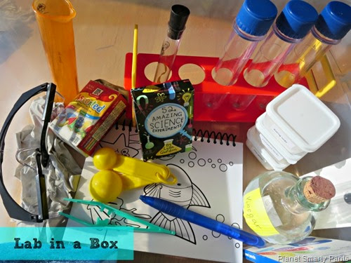 Make a mini-science lab for independent science play