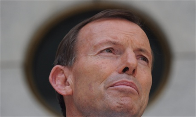 Tony Abbott's Coalition has cast aside its goal of cutting Australia's carbon emissions by up to 25 percent of 2000 levels by 2020. Photograph: Lukas Coch / AAP