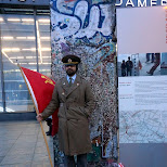 a Soviet soldier at the Berlin wall in Berlin, Berlin, Germany
