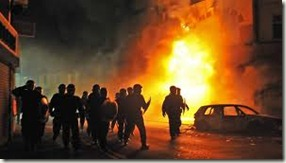 London riots fire EQUAL MONEY FOR ALL