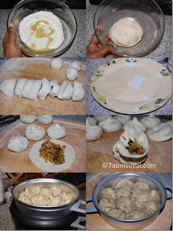 Vegetable momos process 2