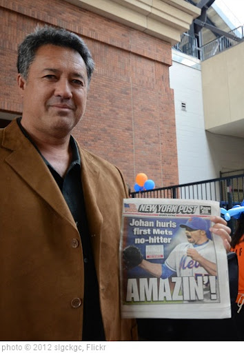 'Ron Darling Celebrates Johan Santana's No Hitter' photo (c) 2012, slgckgc - license: http://creativecommons.org/licenses/by/2.0/