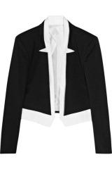 Karl Jane layered twill tuxedo jacket