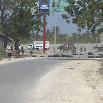 Haiti Barricade in Bon Repos, Haiti