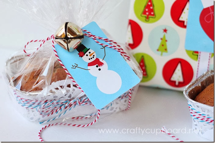 Christmas Snowman Gift Tag Printable by the Crafty Cupboard