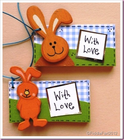 Wooden Easter Buuny tags