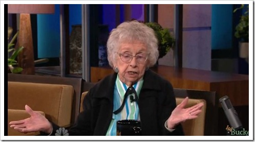 100 year-old Idaho woman on Jay Leno show Video(1)