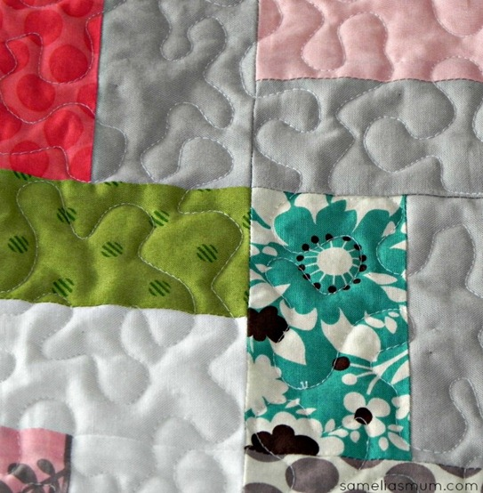 Step in Time Quilt - Quilting