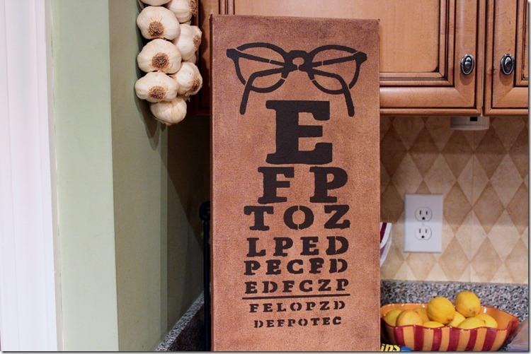 Eye Chart Stencil 001