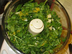 loaded food processor watercress butter