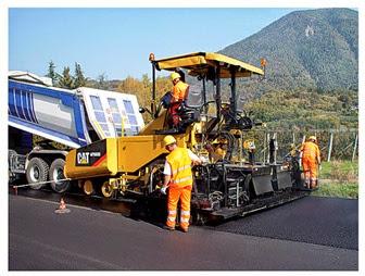 pavimentadora de asfalto