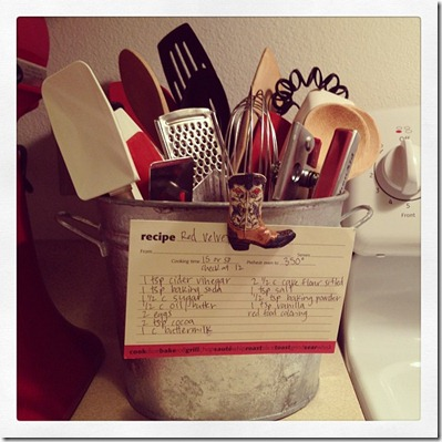 bucket & recipe