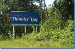 7971 Ontario Trans-Canada Hwy 17 (Trans-Canada Hwy 11) - Terry Fox Courage Highway - Thunder Bay Welcome sign