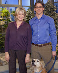 Martha, Dr. Andrew Kaplan and Toby after discussing the importance of spaying and neutering.