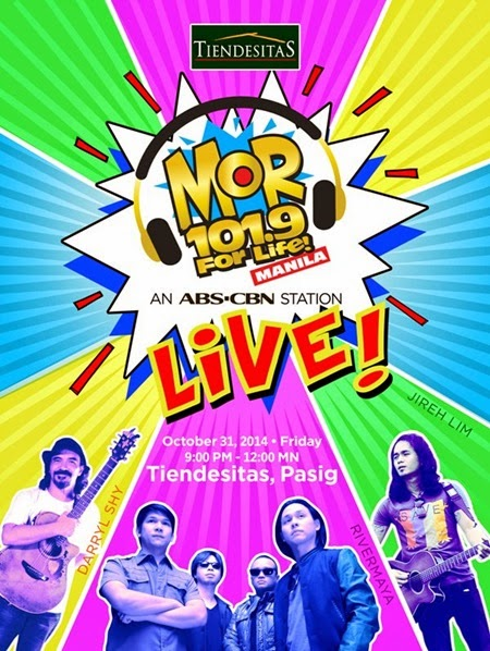 MOR LIVE Halloween Concert in Tiendesitas this Friday