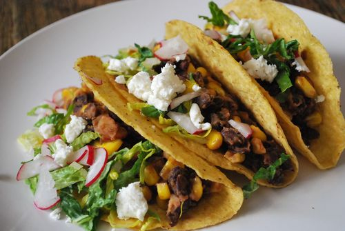 Black Bean Taco; Jannise Scott