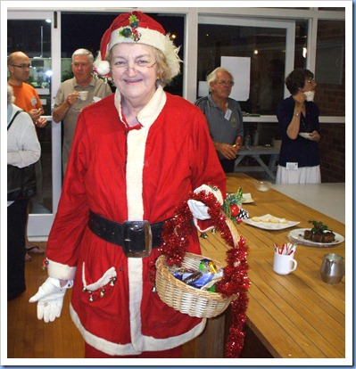 Santa's helper came all the way from the North Pole to add Christmas cheer and gifts (courtesy of Jeanette Beamish).