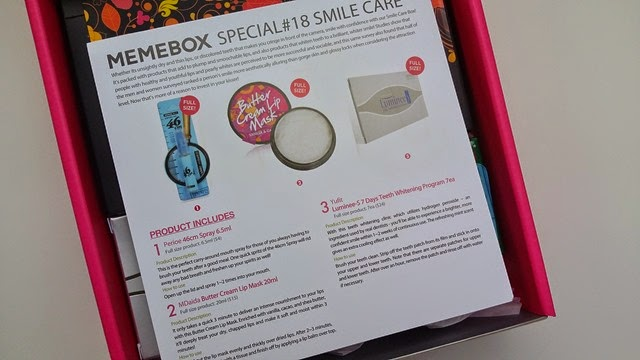 Memebox Smile Care