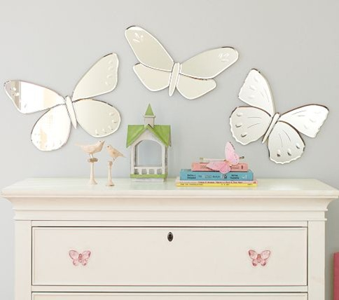 pottery barn kids mirror butterfly