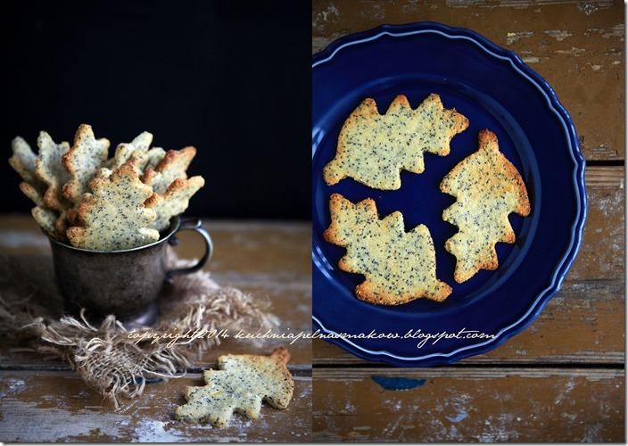 migdałowe ciasteczka z makiem i skórką z cytryny- Sarah Wilson